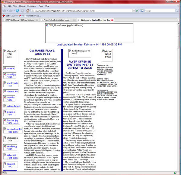 1999 Dayton Flyer Etc. Home Page