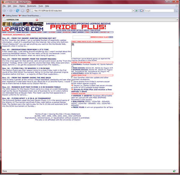 2002 Web Site Home Page