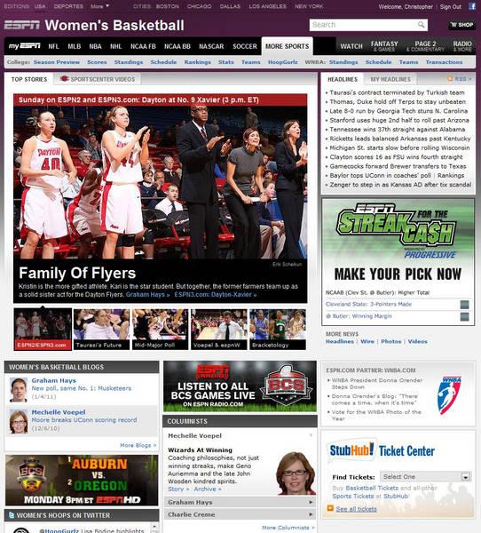 ESPN: Flyer Sister Act